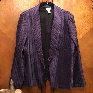 Chico's Purple Lightweight Jacket